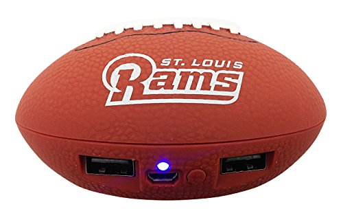 Rams Team Louis Bank - NFL St. Louis Rams Phone Charger, One Size, Brown