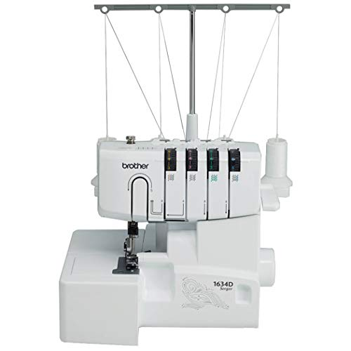 New Brother R1634D 3 or 4 Thread Serger with Differential Feed, White (Renewed)
