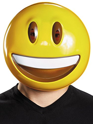 Disguise Men's Smile Mask Costume Accessory, Yellow, One
