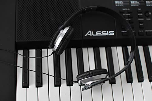 Alesis Melody 61 MKII - 61-Key Portable Keyboard with Built-In Speakers, Headphones, Microphone, Piano Stand, Music Rest and Stool
