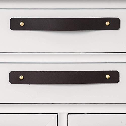 Leather and Brass Drawer Handle – minimal furniture knobs modern kitchen handle pulls for cabinets farm house Scandinavian dresser hardware