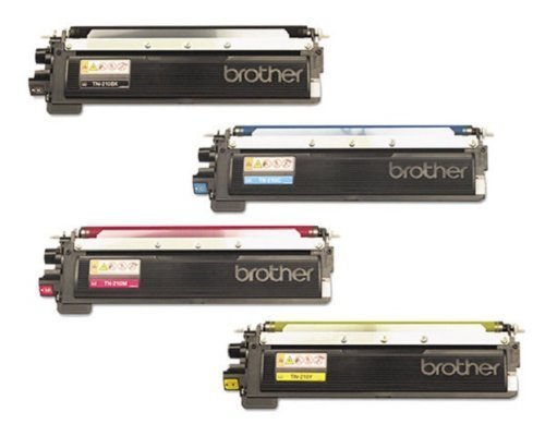 Aplus © Toner Cartridge Set  Professionally Remanufactured compatible with Brother Tn-210, Tn-210bk, Tn-210c, Tn-210y, Tn-210m for Hl-3040cn, Hl-3045cn, Hl-3070cw, Hl-3075cw, Mfc-9010cn, Mfc-9120cn, Mfc-9125cn, Mfc-9320cw, Mfc-9325cw (Brother Laser Remanufactured Cartridge)