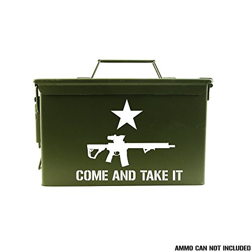 Come And Take It - Ammo Can Vinyl Decal - AR-15 - Diecut - Magpul Take It And Come