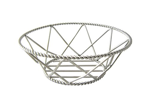 8'' Stainless Steel Round Braided Basket, Clipper Mill by GET 4-81433 (Qty,1)