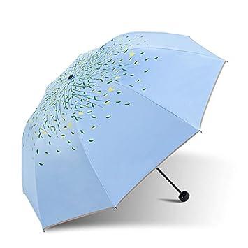wymbs uv-black goma Protector solar chica con paraguas plegable portátil Sunny paraguas