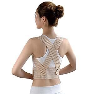 Adults Posture Corrector Back and Shoulder Support, Waist 35''-42'', Beige