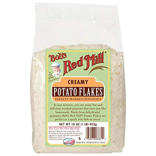 Bobs Red Mill Creamy Mashed Instant Potato Mix Flake, 16 oz