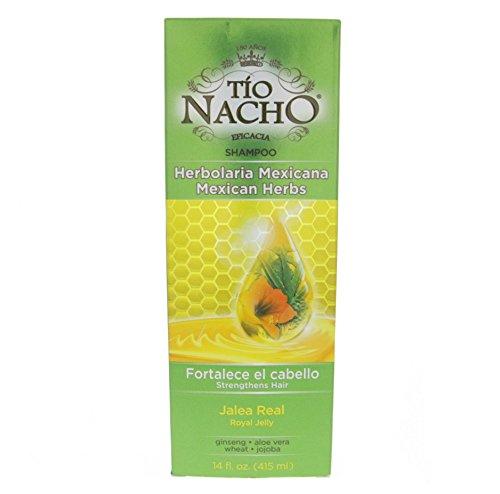 Tio Nacho Mexican Herbal Hair Strengthening Shampoo 415ml - Herbolaria Mexicana Champu (Pack of 2) by Tio Nacho