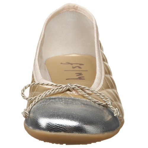French Sole Fs / Ny Womens Passaporto Balletto Piatto Argento / Oro
