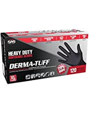 SAS Safety Derma-Tuff Black Nitrile Examination Gloves 120 pcs - Large