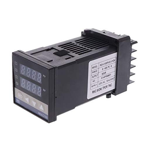 Susie-Smile - PID Digital Temperature Controller REX-C100(M) 0 To 400C K Type Relay Output ()