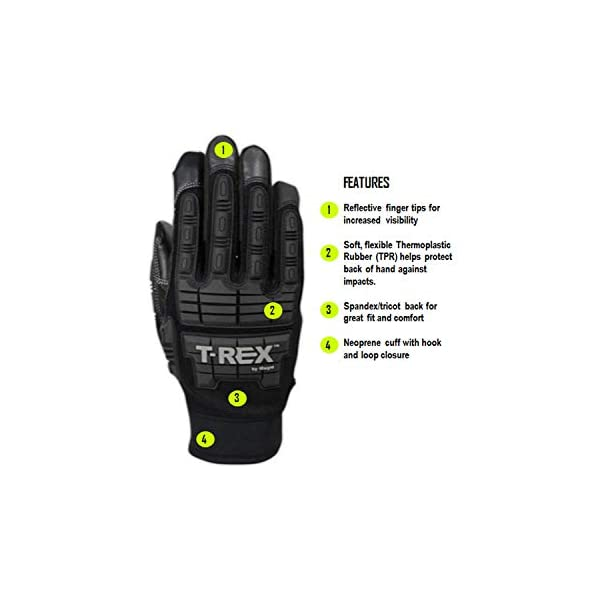 Magid Glove & Safety PGP49TL T-Rex Impact Ultra Gloves, Black, 8/M 2