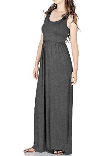 Buy black tank jersey maxi dress - 7