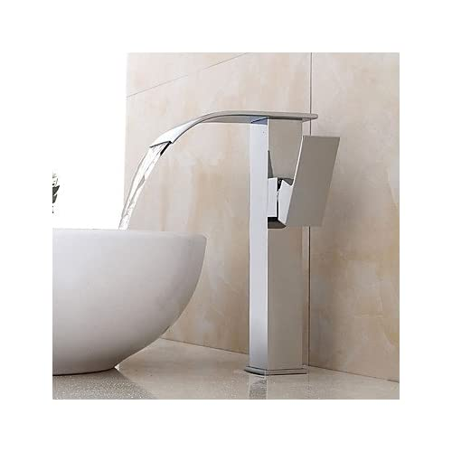 W&P Bathroom Sink Faucet Contemporary Design Waterfall on sale