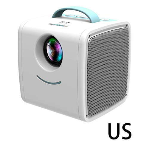 (Caiuet Household LED Mini Projector Portable HD 1080P Child Projector Overhead Projectors)