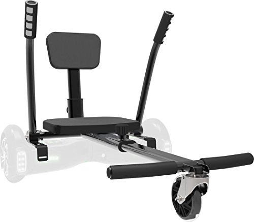 Jetson Electric Bikes Jetkart 1.0 Universal Hoverboard Attachment, Gun Metal