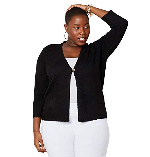 Avenue Women's One Button Cardigan, 26/28 Black