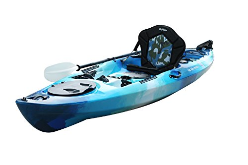 Kajikia 11 Foot-9 Inch Sit-On-Top Recreational Single Person Fishing Kayak with Padded Seat&Aluminum Paddle