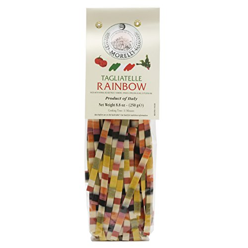 Morelli - Arcobaleno - Tagliatelle Rainbow Semolina Pasta, 8.8oz (250g)