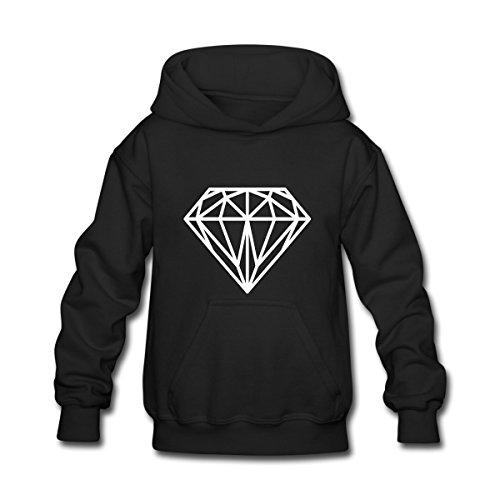 Cool Kids Sweatshirt - Spreadshirt Diamond Hipster Kids' Hoodie, L, Black