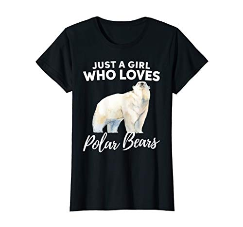 Just A Girl Who Loves Polar Bears Shirt Animal Lover Gift ()
