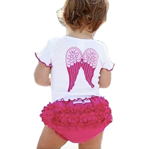 Baby Girls Toddlers so Blessed Angel Wings Tee and Ruffle Pants Bloomers 80 Angel Wings Baby Tee