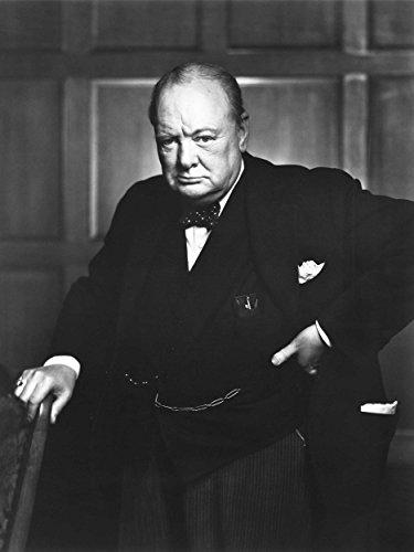 Vintage Photo Portrait Winston Churchill Britain Prime Minister Poster - Picture Winston Churchill