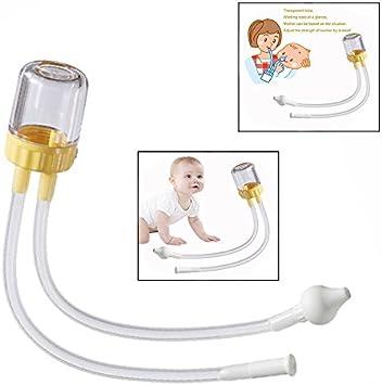 Cisixin Nuevo Nacido Bebé Aspirador Nasal, Extractor de Mucosidad Calidad para Resfriados Gripes