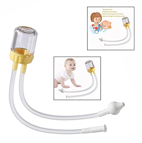 Cisixin Newborn Baby Nasal Aspirator Mucus Sucker Nose Cleaner Vacuum Suction Infant Newborn Nose Cleaning Sucker