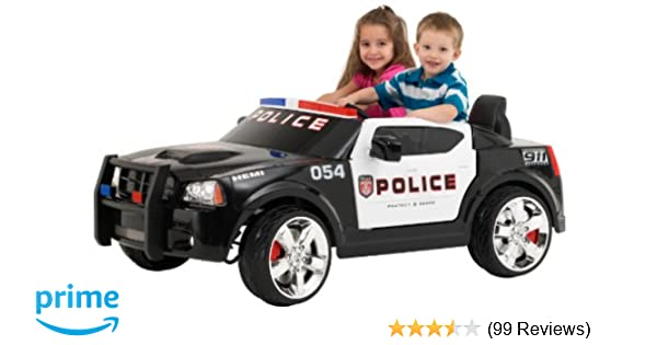 Amazon Kid Trax Charger Police Car 12V Battery Powered Ride On Toy Toys Games
