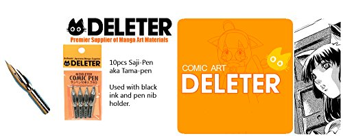 Deleter Manga Comic Saji-Pen / Tama-Pen Nibs Tips 10-Pack by Deleter