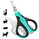 JOFUYU Cat Nail Clippers - Professional Cat Nail Trimmer - Safe - Sharp Angled Blade Pet Nail Trimmer and Clippers - Non-Slip Handle Cat Nail Scissors - Cat Claw Clippers for Small Dogs and Cats