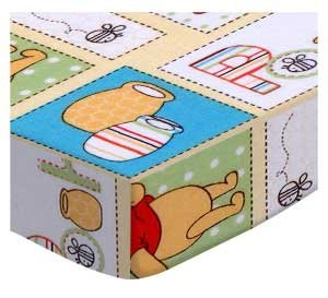 SheetWorld Fitted Pack N Play Sheet Fits Graco 27 x 39 - Winnie The Pooh Patch - Made in USA by SHEETWORLD.COM