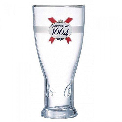 Personalised Engraved Branded 1 pint Kronenbourg 1664 Beer Glass In Gift Box