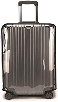Swiky Luggage Cover 24 Inch Suitcase Cover Rolling Luggage Cover Protector Clear PVC Suitcase Cover for Carry on Luggage