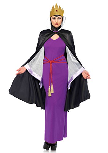 Leg Avenue Women's Deadly Dark Queen Villain Halloween Costume, Multi -