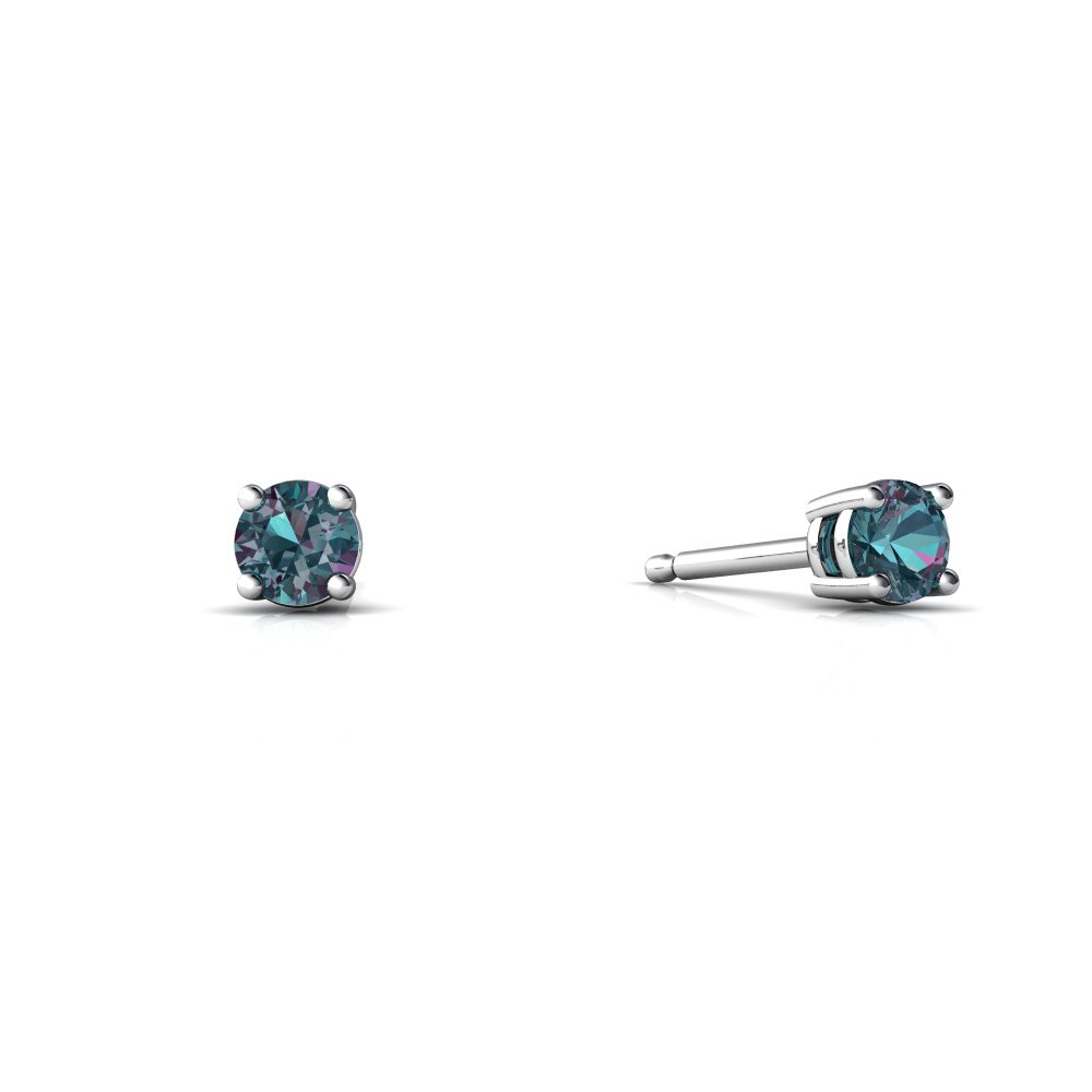 shop silver in earrings big lab on sterling stud deal created alexandrite