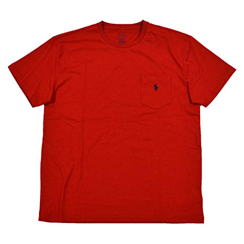 Polo Ralph Lauren Mens Classic Fit Pocket T-Shirt (Small, Polo Red) (Classic-fit Polo Pocket Tee)