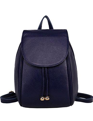Menschwear Moda Mujer Chica funda mochila escolar bolsa Morado Azul