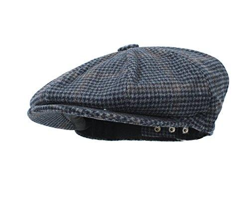Largemouth Unisex 8-Panel Newsboy Snap Front Hat Adjustable (Blue)