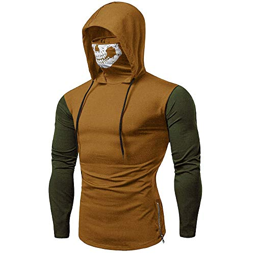 WUYIMC 2019 Mens Hoodie Tops, Hot Funny Mask Skull Hooded Long Sleeve Pullover Sweatshirt Blouse Tops - Raid Sweatshirt