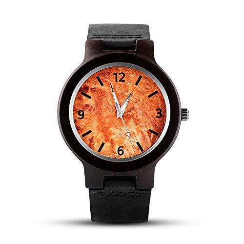 BEWITCHYU Practical Wristwatches Wooden Belt Quartz Watch Men 's Casual Watch Wild Fashion Watch Calibration Small Circle Men Decorative Watch Bracelet