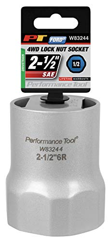 Performance Tool W83244 1/2 Drive Rounded Lock Nut Socket, 2-1/2-Inch used on Ford F-150 and Full Size Bronco With Automatic Hubs