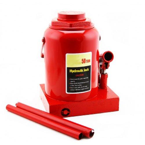 (XtremepowerUS 50-Ton Capacity Hydraulic Bottle Jack Automotive Low Profile Shop Axle Jack Hoist Lift (Red))