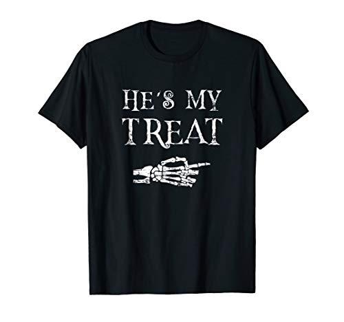 Couples Halloween Costume Matching T-Shirt - He's My