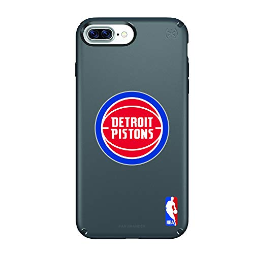 (Fan Brander NBA Phone case, Compatible with Apple iPhone 8 Plus and Apple iPhone 7 Plus and Apple iPhone 6 Plus and Speck Presidio Series (Detroit Pistons))