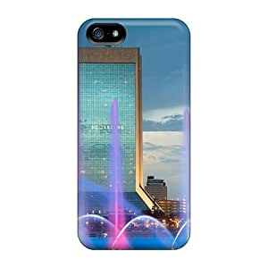Pchcase Ctv4816XEew Case Cover Iphone 5/5s Protective Case Multicolored Fountain Bridge In Jacksonville
