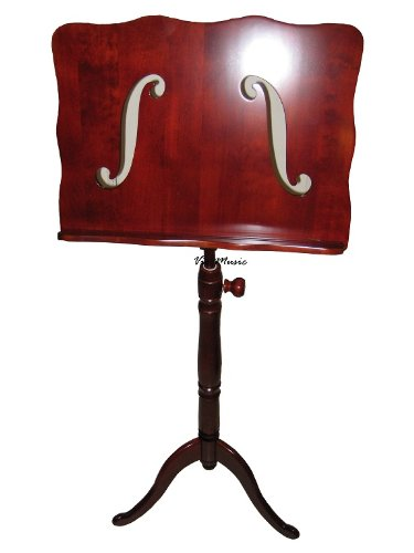 Vio-music Wooden Music Stand, Traditional F-holes Design