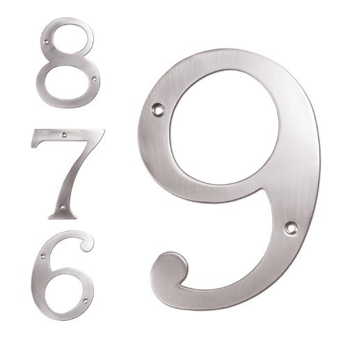 Deltana RN6-0U10B Solid Brass 6-Inch House Number 0 Board (6 Inch Solid Brass Number)