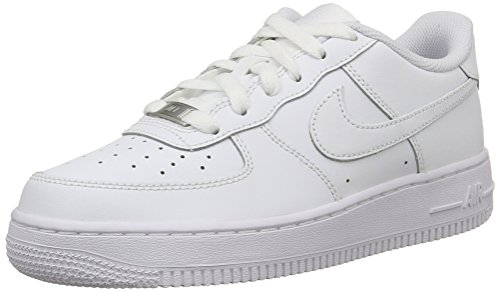 Nike Air Force 1 Low GS All White Youth Lifestyle Sneakers New All White - 6.5 (Kids Big Nike Air Force One)